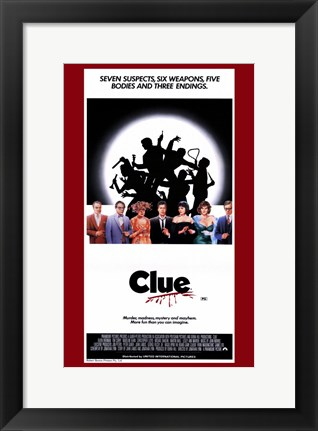 Framed Clue Film Print