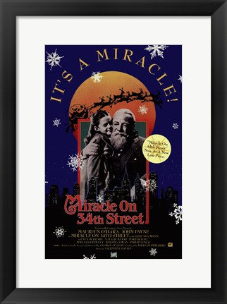 Framed Miracle on 34Th Street Print