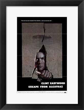 Framed Escape from Alcatraz Print