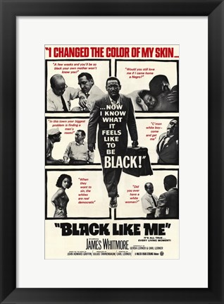 Framed Black Like Me Print