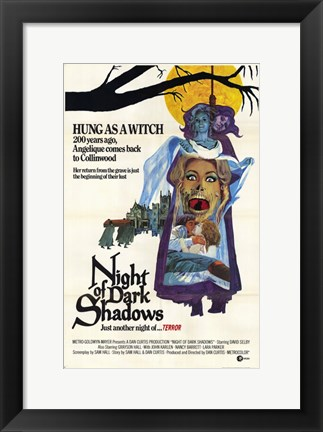 Framed Night of Dark Shadows Print