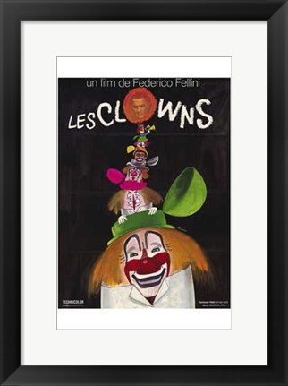 Framed Clowns Print