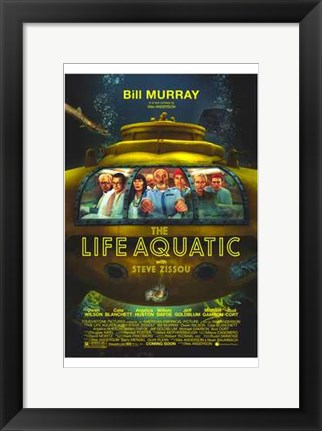 Framed Life Aquatic with Steve Zissou Movie Print