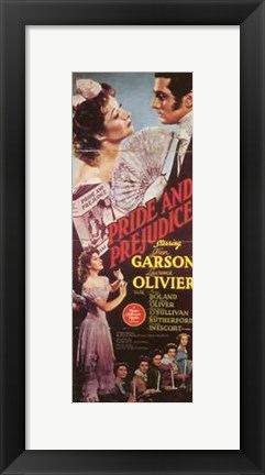 Framed Pride and Prejudice Garson Olivier Print