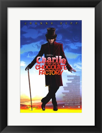 Framed Charlie and the Chocolate Factory Willy Wonka Print