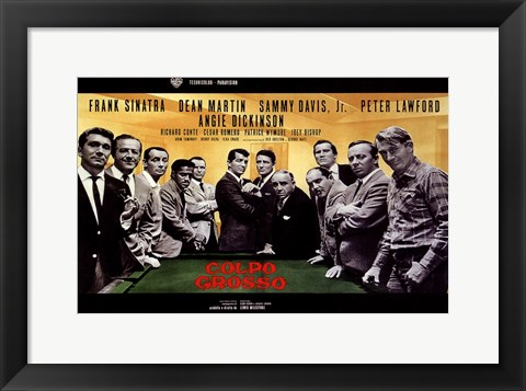 Framed Oceans 11 Colpo Grosso Pool Table Print