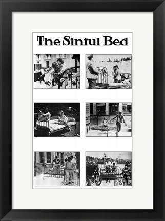 Framed Sinful Bed Movie Print