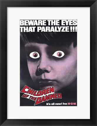 Framed Children of the Damned Eyes That Paralyze Print