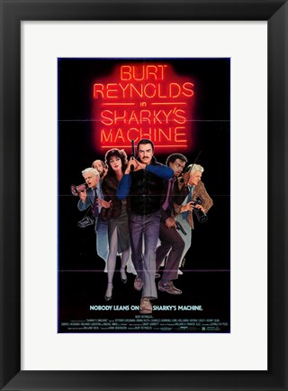 Framed Sharky's Machine Movie Print