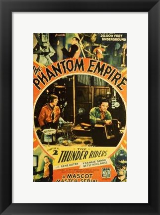 Framed Phantom Empire Thunder Riders Print