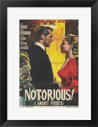 Framed Notorious Vintage Print