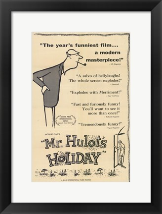 Framed Mr Hulot's Holiday Print