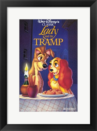 Framed Lady and the Tramp Disney Classic Print