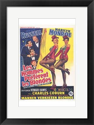Framed Gentlemen Prefer Blondes Print