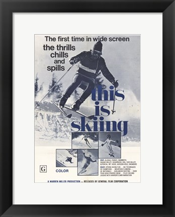 Framed This is Skiing Print