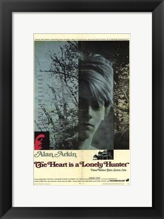 Framed Heart is a Lonely Hunter Print