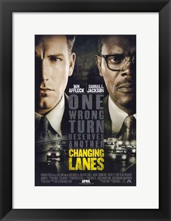 Framed Changing Lanes Print