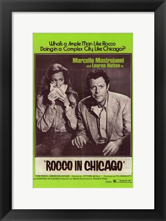 Framed Rocco in Chicago Print