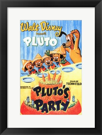 Framed Pluto's Party Print