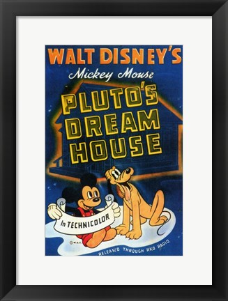 Framed Pluto's Dream House Print