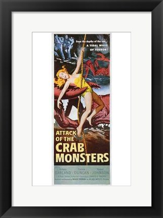 Framed Attack of the Crab Monsters Print