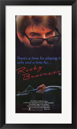 Framed Risky Business Tim for Playing it Safe Print