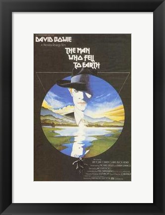 Framed Man Who Fell to Earth Bowie Print