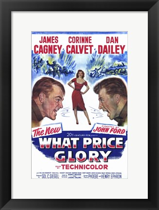 Framed What Price Glory movie cover Print