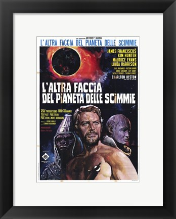 Framed Beneath the Planet of Apes - movie Print