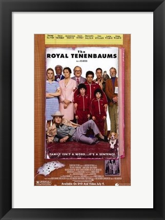 Framed Royal Tenenbaums - family photo Print