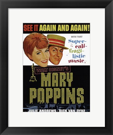 Framed Mary Poppins Again and Again Print