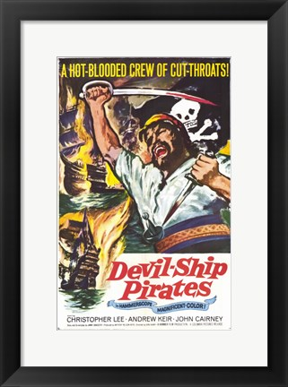 Framed Devil-Ship Pirates Print