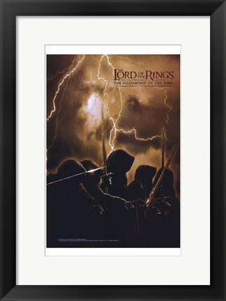 Framed Lord of the Rings: Fellowship of the Ring Lightning Print