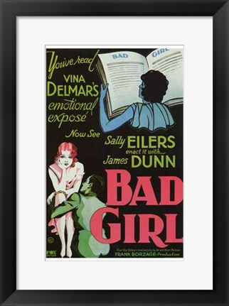 Framed Bad Girl Print