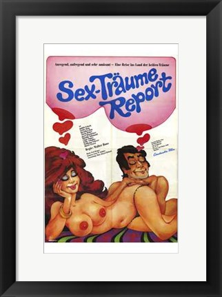 Framed Sex-Traume Report Print