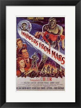 Framed Invaders from Mars Print