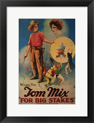 Framed for Big Stakes Print