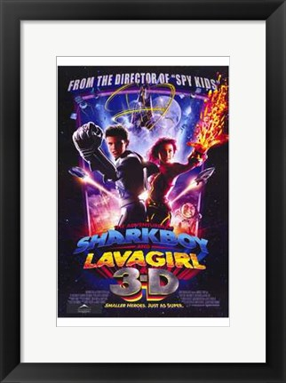 Framed Adventures of Shark Boy Lava Girl in 3- Print