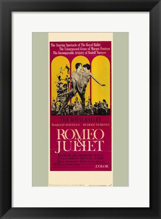 Framed Romeo and Juliet Royal Ballet Print
