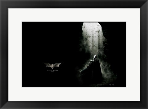 Framed Batman Begins with Bats Print