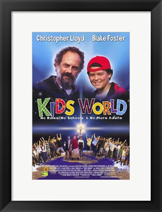 Framed Kids World Print