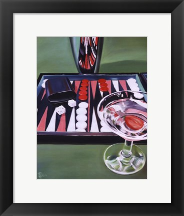 Framed Backgammon Print