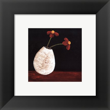 Framed Playful Posies I Print