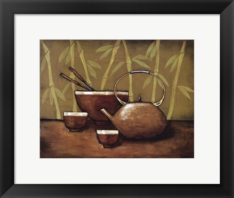 Framed Bamboo Tea Room II Print
