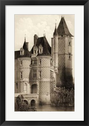 Framed Sepia Chateaux VII Print