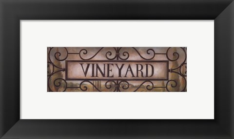 Framed Vineyard Print