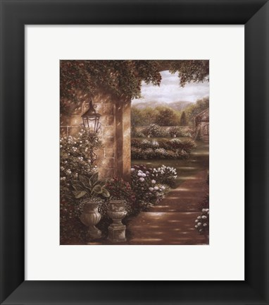 Framed Evening in the Conservatory Print