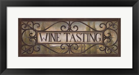 Framed Wine Tasting Print