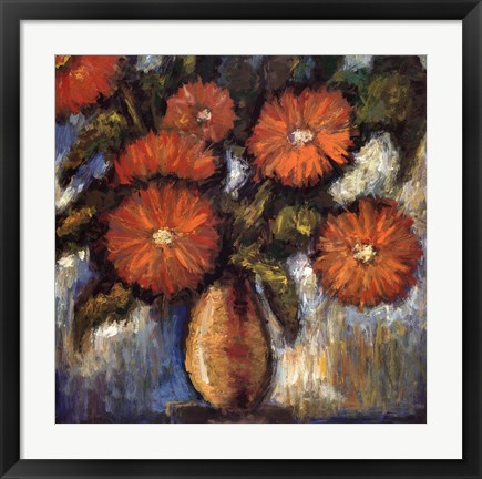 Framed Orange Poppies I Print