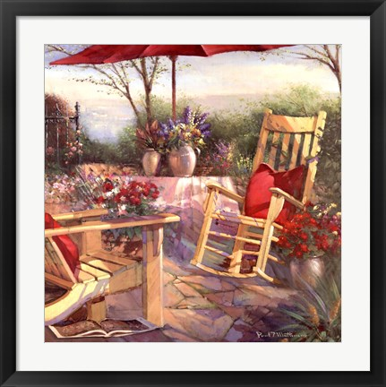 Framed Patio Chaise Print